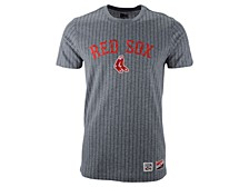 New Era Men's Boston Red Sox Pinstripe Crew Top II