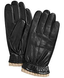 Men's Leather Gloves, Created for Macy's