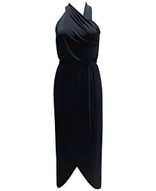 INC Halter Pleated Maxi Dress, Created for Macy's