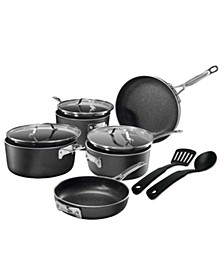 StackMaster Nonstick Diamond and Mineral Infused Coating 10-Pc. Cookware Set