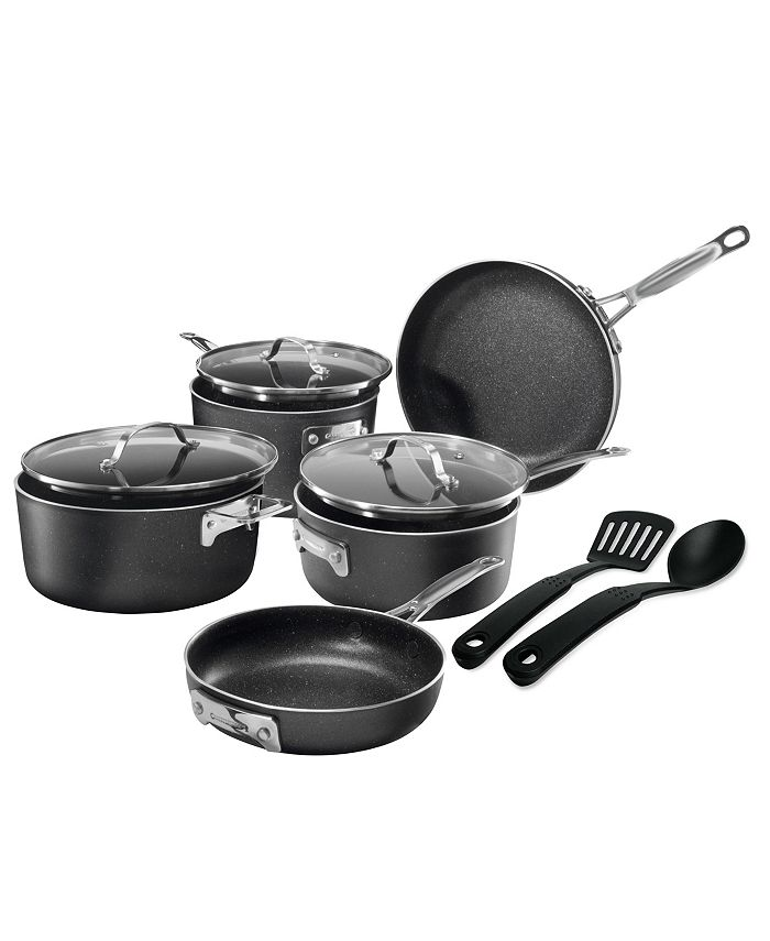 Granite Stone Diamond - StackMaster Nonstick Diamond and Mineral Infused Coating 10-Pc. Cookware Set