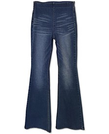 Juniors' High Rise Pull-On Flare Jeans