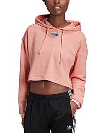 adidas Originals Women's Cotton Cropped Hoodie