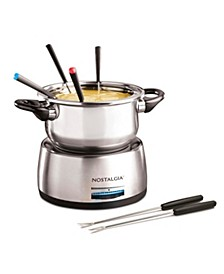6-Cup Stainless Steel Fondue Pot