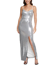 Vince Camuto Metallic Gown
