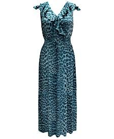 INC Ruffled Surplice Maxi Dress, Created for Macy's