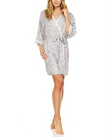 Mariah Printed Wrap Robe