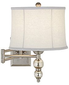CLOSEOUT! kathy ireland home by Pacific Coast Manhattan Chic Swing Arm Wall Lamp