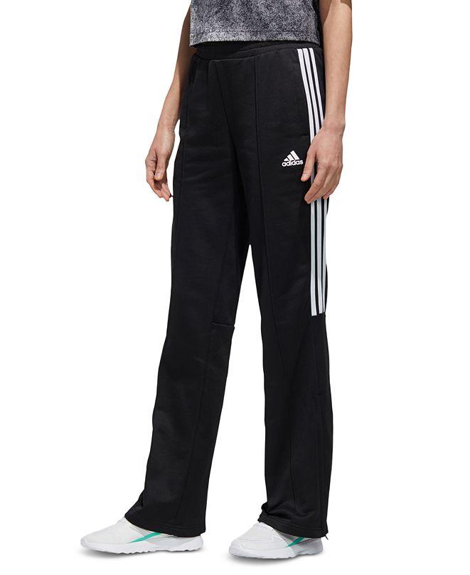 adidas Women's New Authentic 3-Stripe Wide-Leg Track Pants