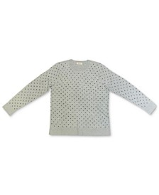 Petite Dot-Print Sweatshirt, Created for Macy's