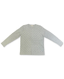 Style & Co Dot-Print Pullover Sweater, Created for Macy's