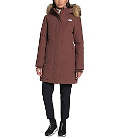 Women's Arctic Hooded Faux-Fur-Trim Parka
