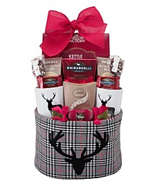Plaid Reindeer Basket