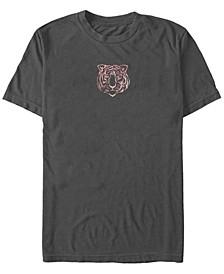 Small Tiger Face Men's Short Sleeve T-Shirt