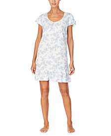 Floral Flounce Sleepshirt Nightgown