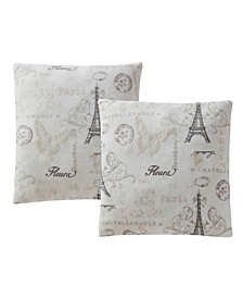 "CLOSEOUT! Printed Plush 18"" Decorative Pillow 2-Pack"