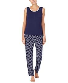 Tank Top & Printed Pants Pajama Set
