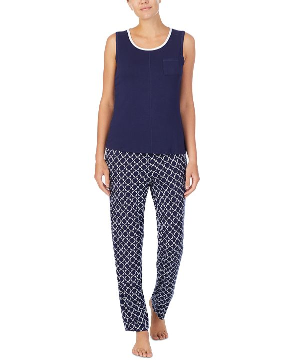 Nautica Tank Top & Printed Pants Pajama Set