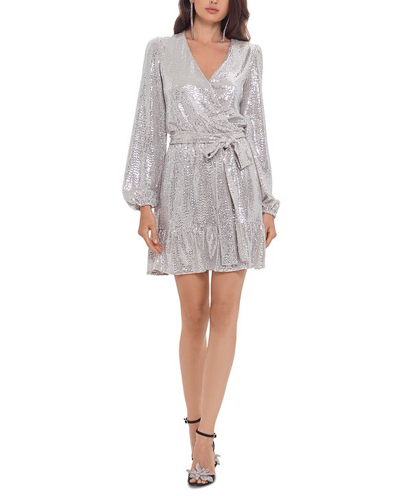 Betsy & Adam Sequinned Fit & Flare Dress
