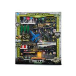 Mag-Genius Mini Vehicle Army-Inspired Platoon Scene 40-Piece Mega Toy Set