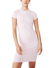 Essential Short Sleeve Bodycon Midi Dress