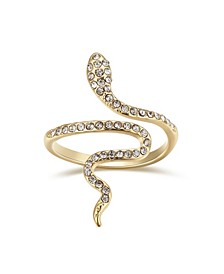 Crystal Snake Bypass Ring