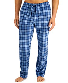 Men's Plaid Fleece Pajama Pants, Created for Macy's
