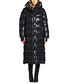 Harper Maxi Hooded Down Puffer Coat