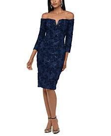 Off-The-Shoulder Lace Bodycon Dress
