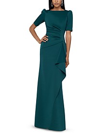 Ruched A-Line Gown