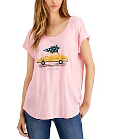 Printed Scoop-Neck T-Shirt, Created for Macy's