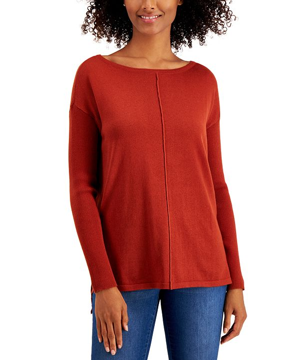 Style & Co Seamed Cotton Tunic, Created for Macy's