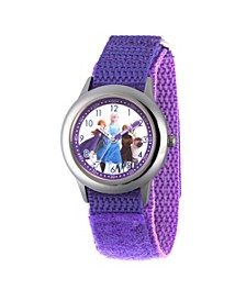 Disney Frozen 2 Elsa, Anna, Olaf, Sven Girls' Stainless Steel Watch 32mm