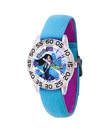 Disney Princess Mulan Girls' Clear Plastic Watch 32mm