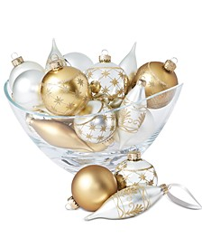 Shine Bright Glass Ornaments, Set of 22, Created for Macy's