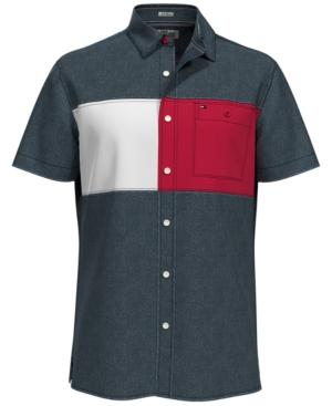 Tommy Hilfiger Men's Logo Colorblocked Shirt
