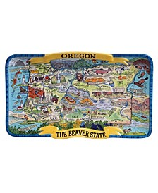 Oregon Souvenir Rectangular Platter