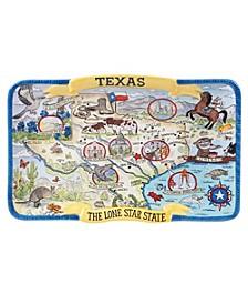 Certified International Texas Souvenir Rectangular Platter