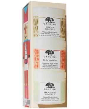 Origins\\\' most spa-worthy gift: a trio of super lush, skin-nourishing body creams.