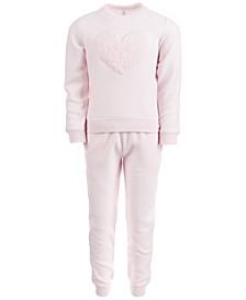 Little Girls Fleece Top & Pants Set, Created for Macy's
