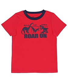 Little Boys Short Sleeve Text and Graphic Tee