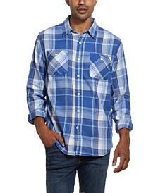 Men's Burnout Flannel Shirt