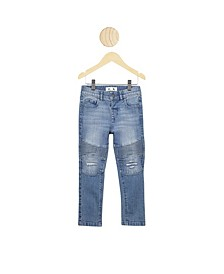 Toddler Boys Biker Moto Jeans