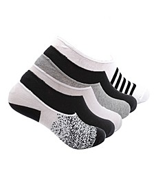 Women's Foot Liner No Show Cotton Socks, Print, 6 Pack
