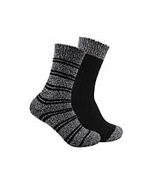 by Shelli Segal Women's Marled Stripe Tall Crew Boot Socks, 2 Pack