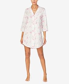 로렌 랄프로렌 슬립셔츠 나이트가운 Lauren Ralph Lauren Printed Sleep Shirt Nightgown,Pink Floral