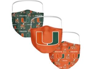 Miami Hurricanes 3-Pk. Face Mask