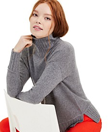 Cashmere Rib-Trim Turtleneck Sweater, Regular & Petite Sizes, Created for Macy's