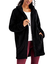 Hooded Fleece Cardigan