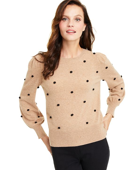 Charter Club Popcorn Stitch Cashmere Sweater, Created for Macy's